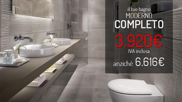 arredo bagno completo stile moderno - Arredo Completo Bagno