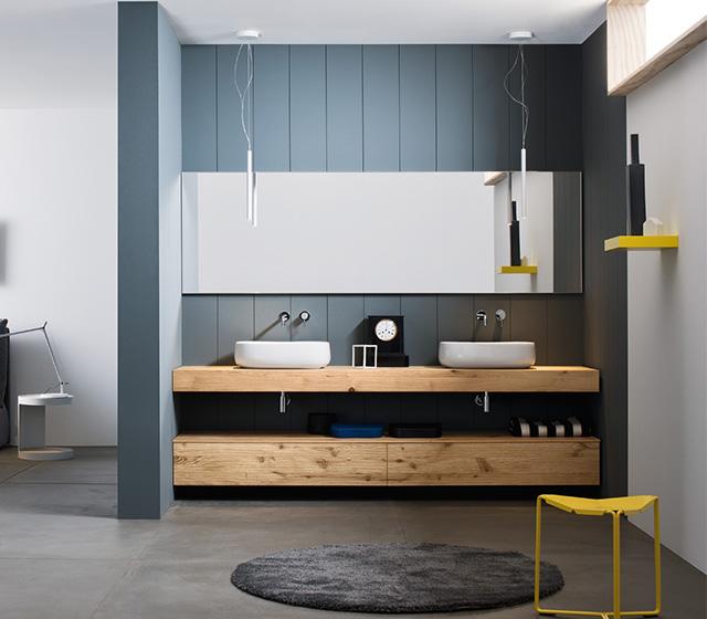 Bagni d autore arredo bagno progettazione e - Mobile bagno legno grezzo ...