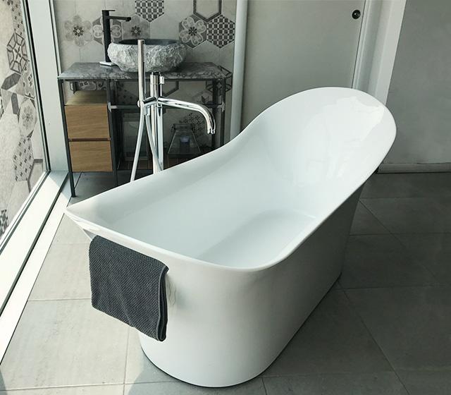 Vasca design centro stanza carezza 160x70 h 75 60 cm - Vasca da bagno doppia ...