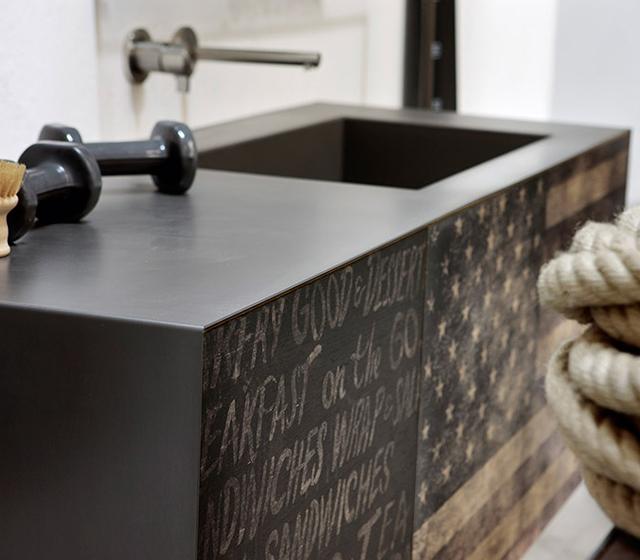 arredo bagno vintage 02 l145xp50 cm - Arredo Bagno Vintage