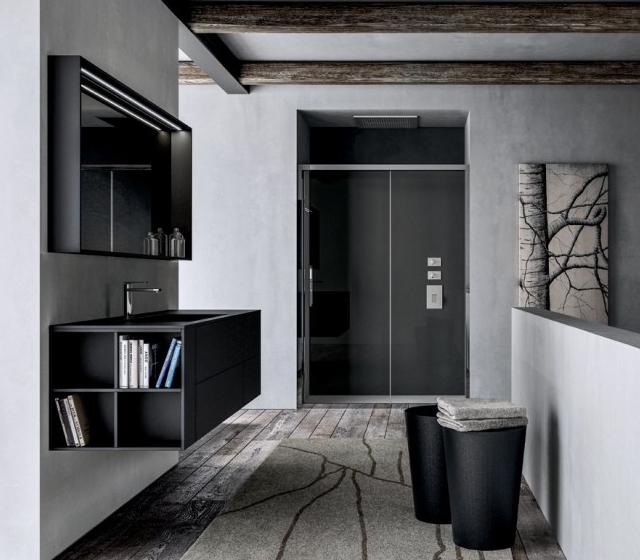 bagno fenix nero l152,4xp50 cm - Arredo Bagno Nero