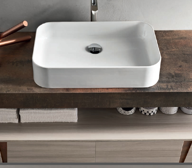 Arredo bagno rust l 190 x h 25 x p 50 cm effetto ruggine for H rivestimento bagno