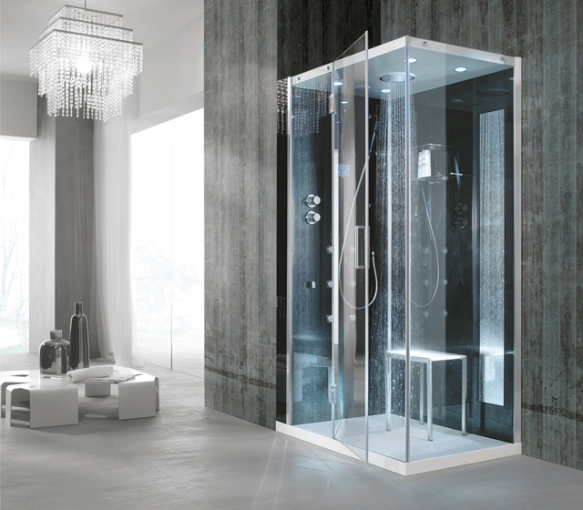 Cabina doccia multifunzione tempo 90x80 cm - Specchio bagno 90x80 ...