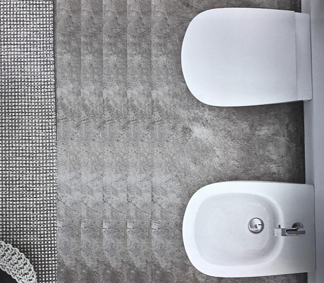 Coppia sanitari moderni a terra ovvio nic design for Ovvio mobili