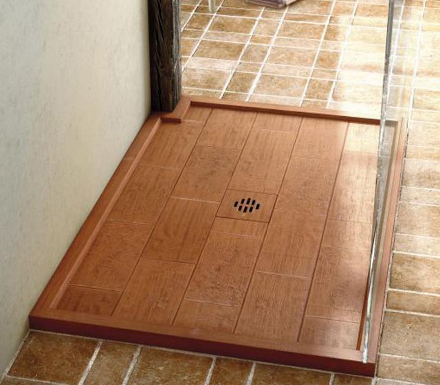 Piatto doccia rustico su misura for Piatto doccia pietra