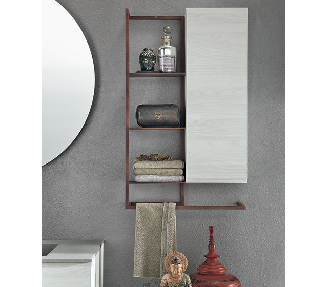Pensile in metallo raster con portasalviette integrato for Portasalviette bagno design