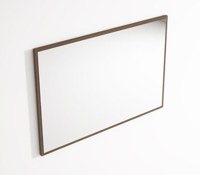 Specchio Da Bagno Con Cornice Teak L 99 H 70 Cm