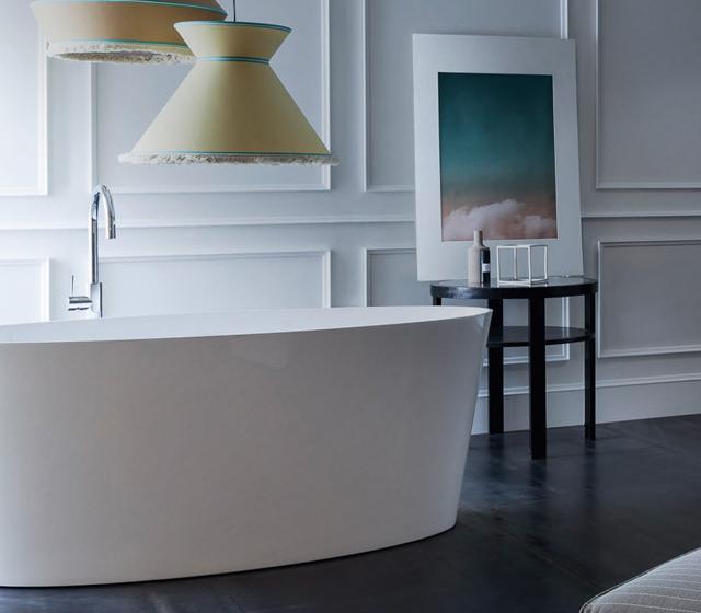 Vasca da bagno freestanding tub 160x72 cm in mineralguss - Vasca da bagno freestanding ...