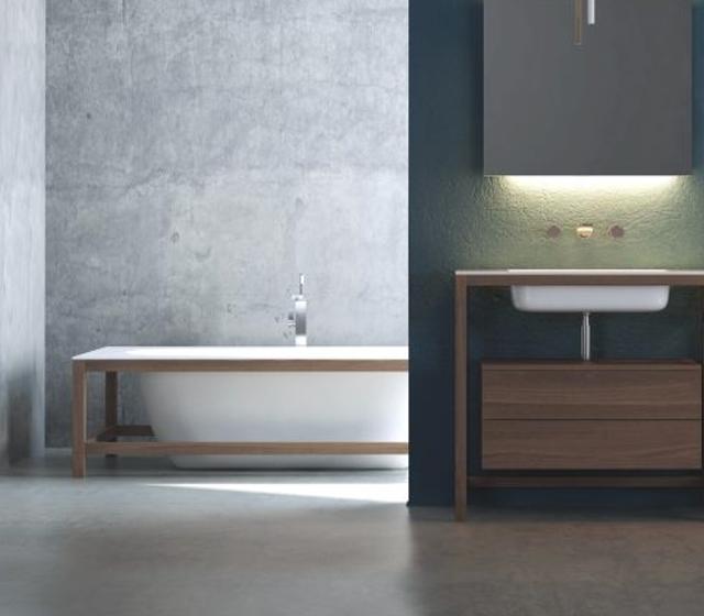 vasca da bagno freestanding teak l 175 h 52 p 83 cm