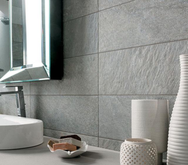 Gres porcellanato effetto pietra quarziti waterfall - Rivestimento bagno effetto pietra ...