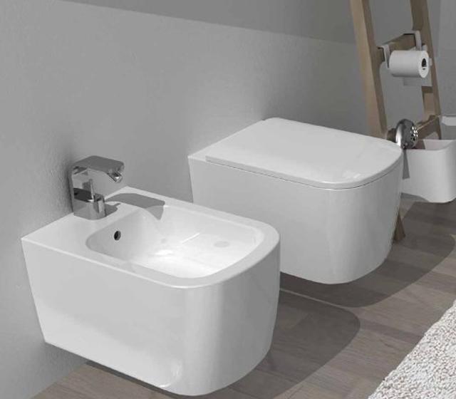 wc water sospeso semplice bianco
