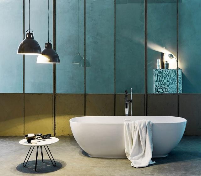 Vasca da bagno freestanding kuvet 170x70 cm in tekno for Vasca centro stanza