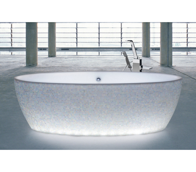 Vasca da bagno dip mosaic light - Bagno d autore ...