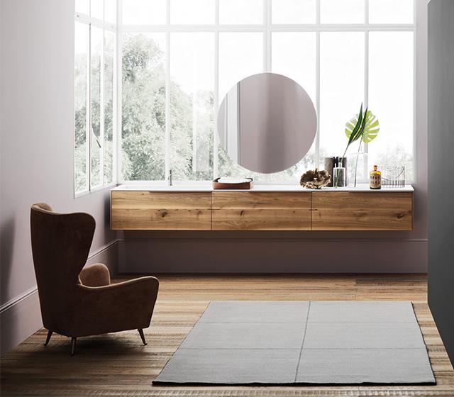 Arredo bagno in legno noce antico bianco l 288 cm - Bagni stile antico ...