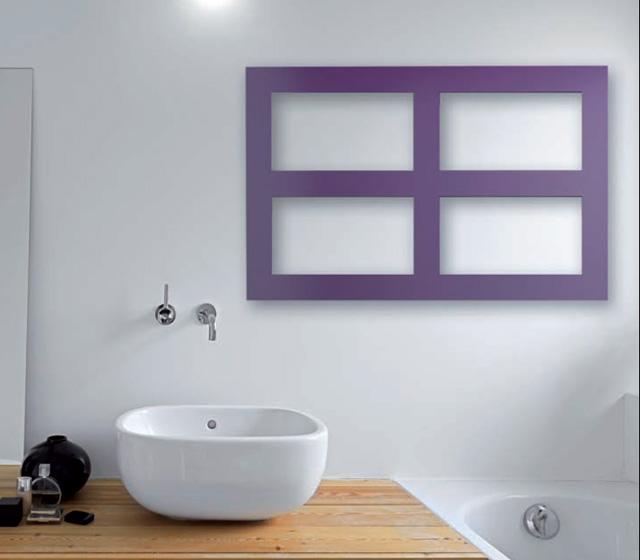 Termoarredo orizzontale essen design minimal - Termoarredo orizzontale bagno ...