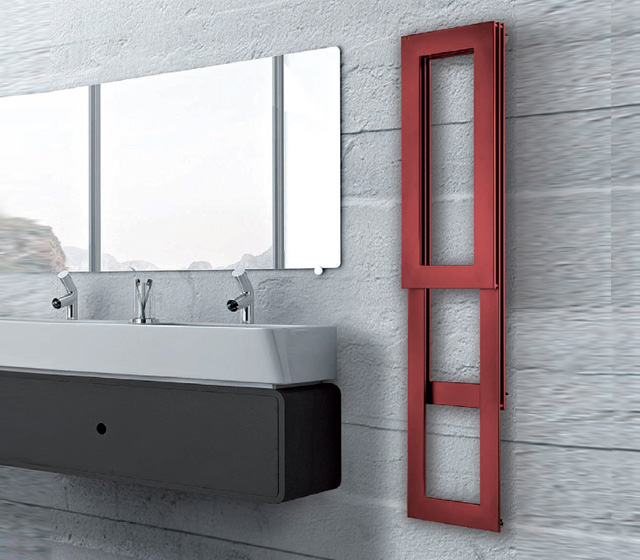 Termoarredo design sottile pit - Termoarredo bagno misure ...