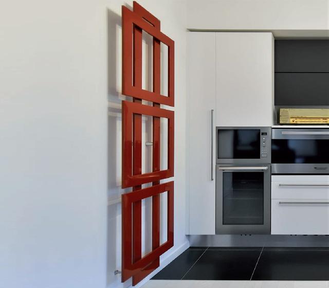 Termoarredo design originale cross q verticale 100 cm - Termoarredo verticale ...