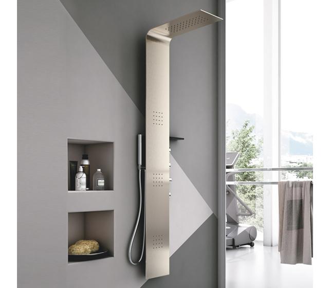 Colonna doccia idromassaggio lama metallo - Piatto doccia piastrellabile ...