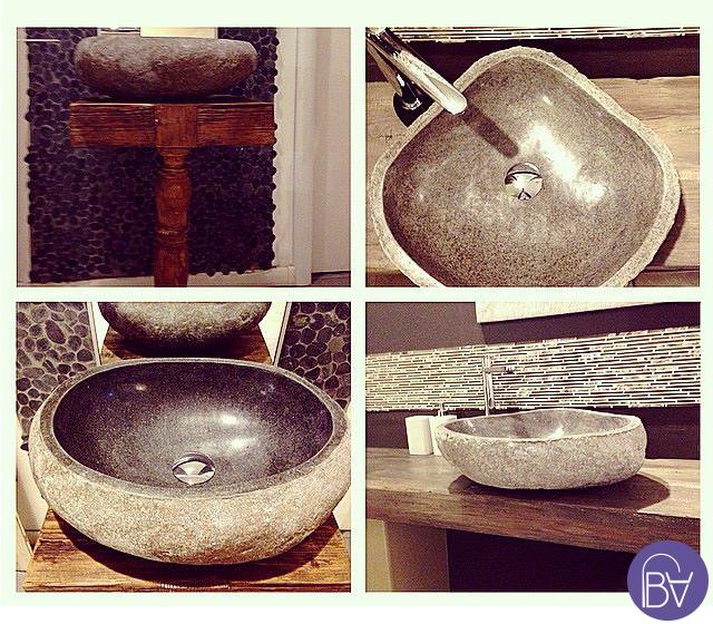 Lavabo particolare pietra di fiume riverstone - Lavabo pietra bagno ...