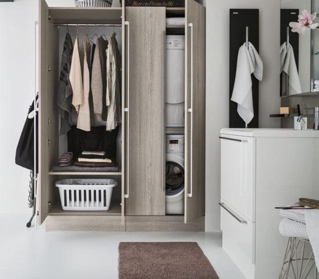 Cerchi un mobile porta lavatrice e asciugatrice in rovere - Mobile porta lavatrice ...