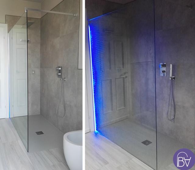 Box doccia aperto mirage separ con led bagni d 39 autore - Illuminazione doccia con led ...