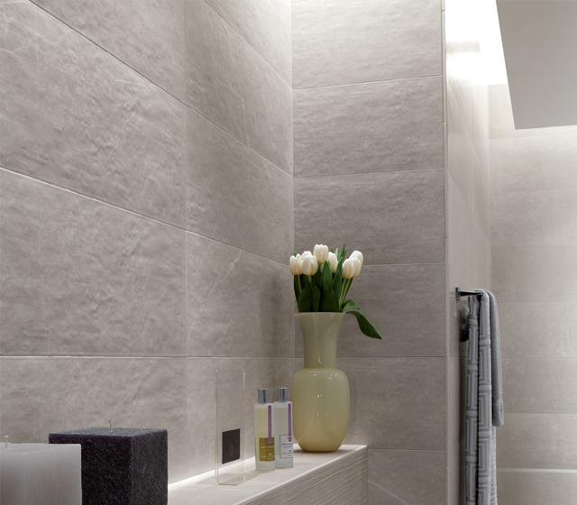 Rivestimento effetto pietra maku fap ceramiche for Piastrelle bagno pietra