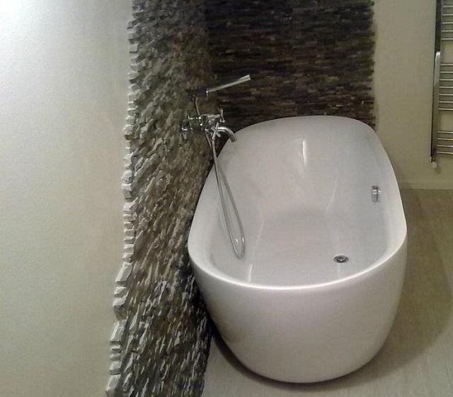 Vasca da bagno freestanding centro stanza Spazio