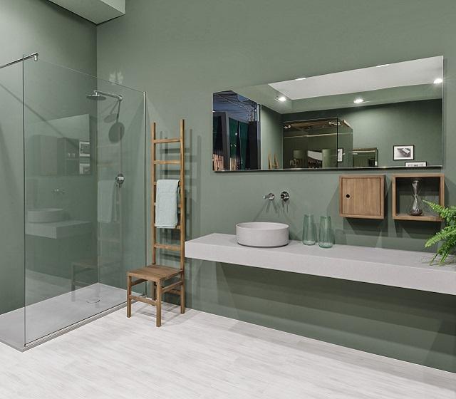 Arredo bagno su misura essenziale tecnoril l 180 x h 15 x - Arredo bagno grigio ...