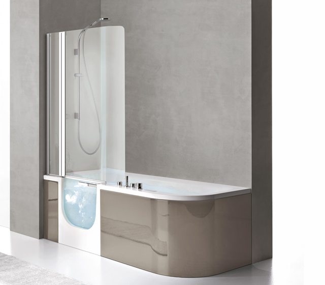 Vasca con sportello e doccia for all box 180x78 cm - Vasca bagno con doccia ...