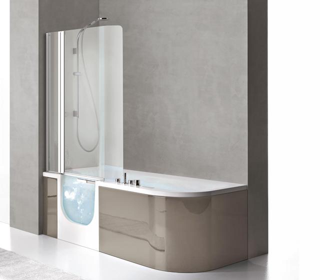 Vasca con sportello e doccia for all box 180x78 cm - Box vasca da bagno ...