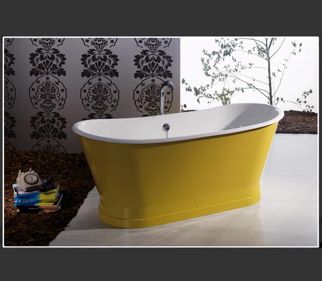 Vasca da bagno centro stanza freestanding antica 170x68 cm - Bagno d autore ...