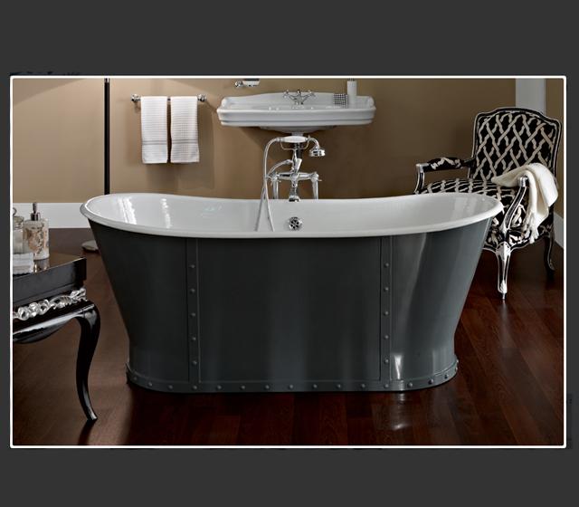 Vasca da bagno centro stanza freestanding luxury 170x68 cm - Vasca da bagno in ghisa ...