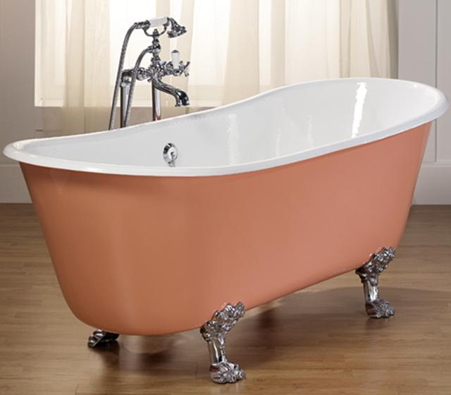 Vasca da bagno centro stanza freestanding romarin 170x68 cm - Vasca da bagno in ghisa ...