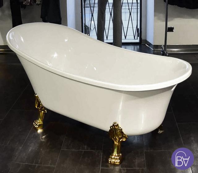 Vasca con piedini freestanding in stile retr bagni d autore - Vasca da bagno in cemento ...