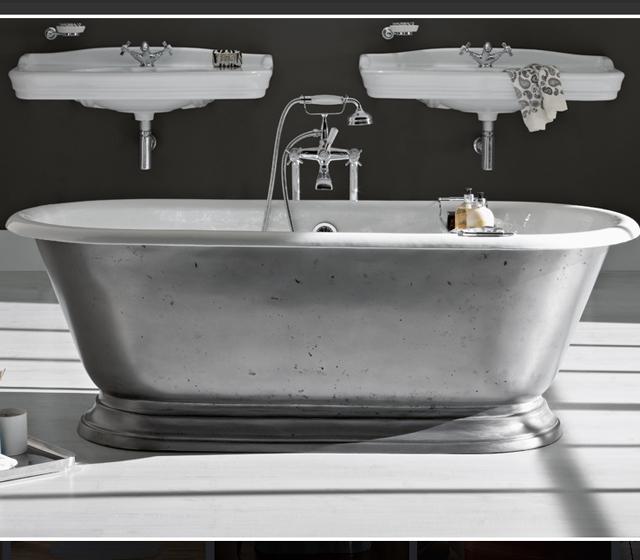 Vasca da bagno centro stanza freestanding shabby 178x80 - Vasca da bagno in ghisa ...