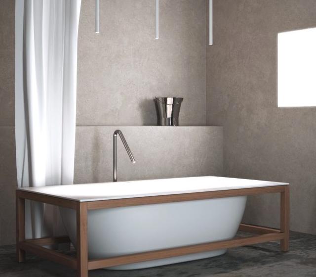 Vasca da bagno freestanding teak l 175 h 52 p 83 cm - Bagno d autore ...