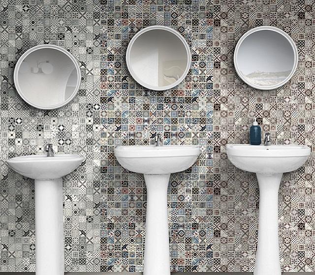 Mosaico bagno Vintage multicolor