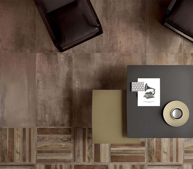 Gres porcellanato metallo interno 9 mud 60x60 Decoro