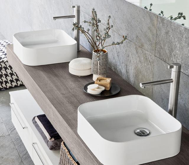 Arredo bagno rovere tranche 39 l170xp50 5 cm - Arredo bagno doppio lavabo ...
