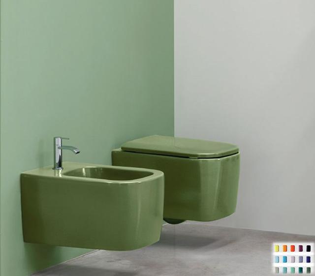 Sanitari Colorati Wc Sospeso Colorato Nic Design Semplice