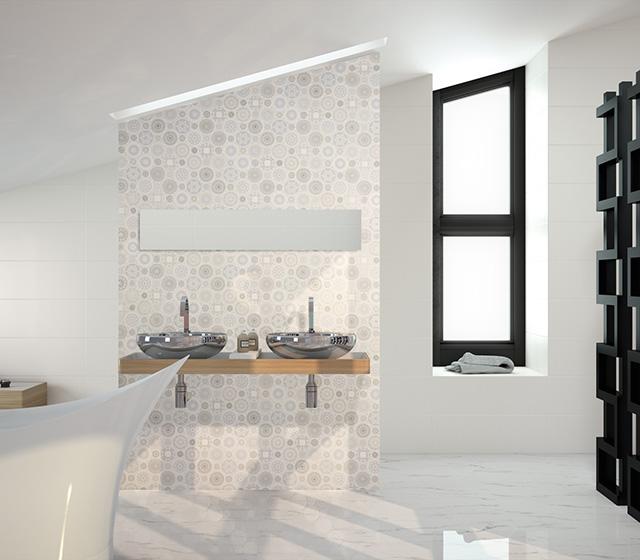 Superfici bagno mosaico mosaico bagno ceramica frozen - Piastrelle fine serie ...