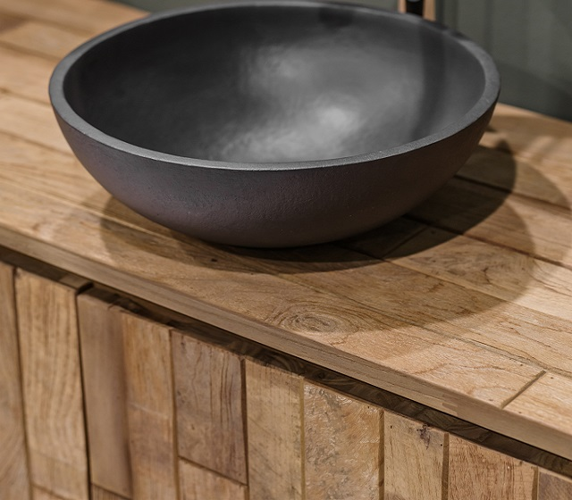 Mobile bagno legno rustico - Bagni d\'Autore