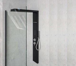 Arredo bagno su misura essenziale tecnoril l 180 x h 15 x - Box doccia design minimale ...