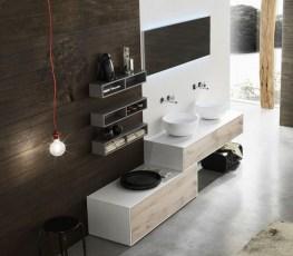 Doppio lavabo - Mobile bagno asimmetrico ...
