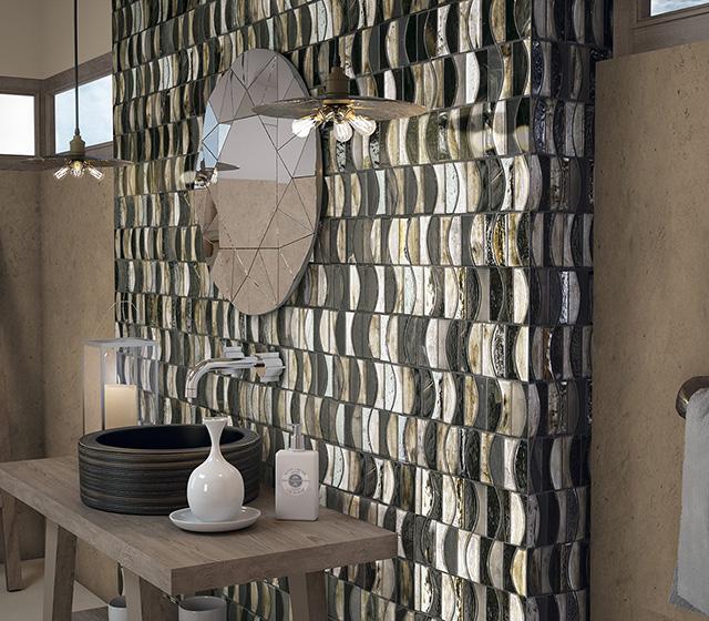 Superfici bagno mosaico mosaico bagno vetro salsa for Mosaico vetro bagno