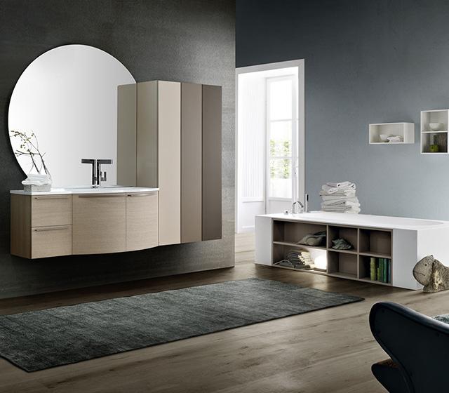 Mobili bagno curvi mobile bagno curvo rovere malto - Mobile bagno curvo ...
