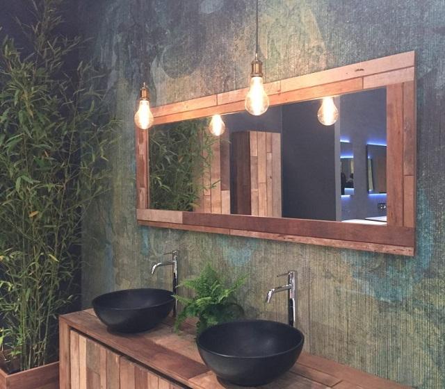 Specchio rustico bagno in legno di recupero bagni d 39 autore - Bagno rustico in legno ...