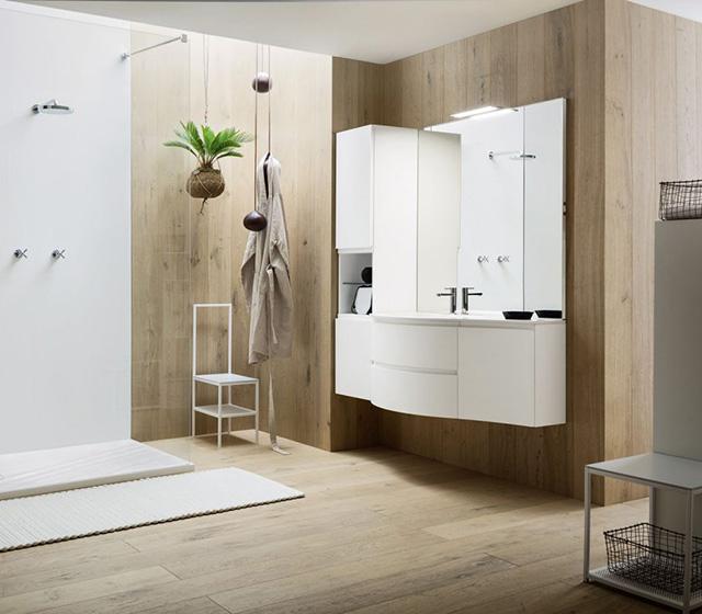 Mobili bagno curvi mobile bagno curvo laccato bianco opaco - Mobile bagno curvo ...
