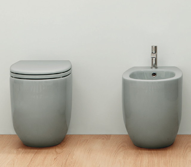 Bidet a terra in ceramica colorata Nic Design - Milk