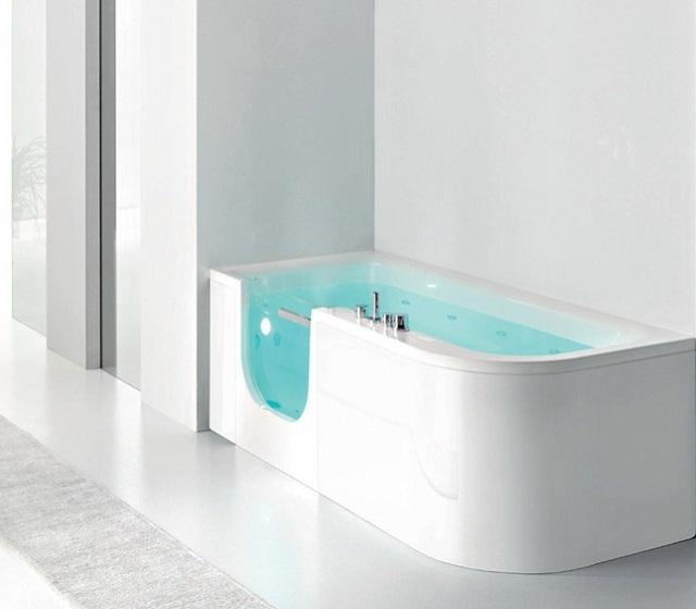 Vasca con sportello e doccia FOR ALL BOX 180x78 cm
